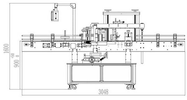 Αυτόματη λεπτομέρεια μηχανής σήμανσης εμπρός και πίσω διπλής όψης
