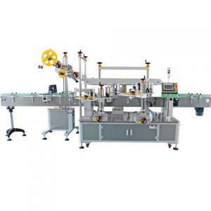 Μηχανή ετικετών διπλού τετραγωνικού μπουκαλιού