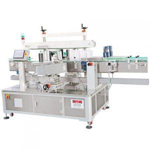 Μηχανή ετικετών γωνίας συσκευασίας χαρτοκιβωτίων ποτών