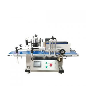 Lubricating Oil Flat Bottles Double Labeling Machine